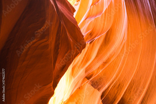 Beautiful  of sandstone formations in upper Antelope Canyon, Page, Arizona, USA Tapéta, Fotótapéta