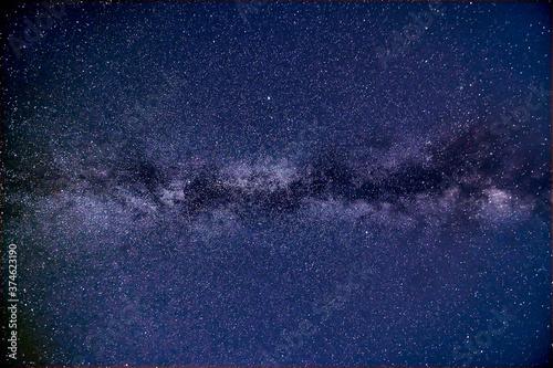 Fototapeta Beautiful shot of the milky way in the dark sky obraz na płótnie