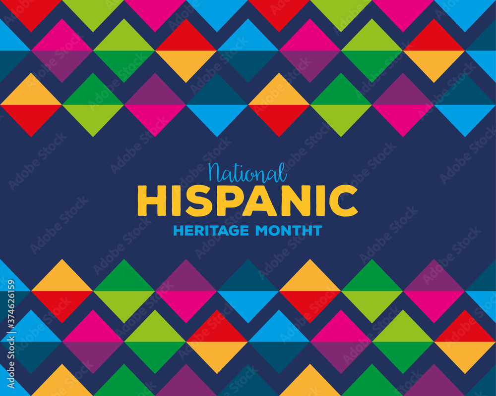 Fototapeta colored pattern background design, national hispanic heritage month and culture theme Vector illustration