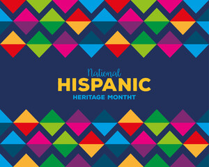 colored pattern background design, national hispanic heritage month and culture theme Vector illustration