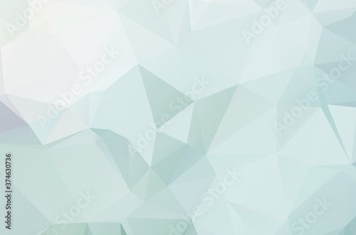 Canvastavla Dark Multicolor vector abstract Low Poly background. Colorful