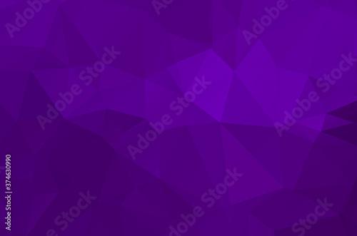 Slika na platnu Purple vivid polygonal abstract background