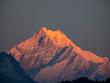 canvas print picture - Sonnenaufgang in Gangtok mit Blick auf den Kanchenjunga