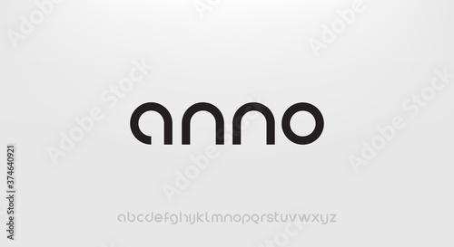 Obraz na płótnie anno, Abstract technology science alphabet lowercase font