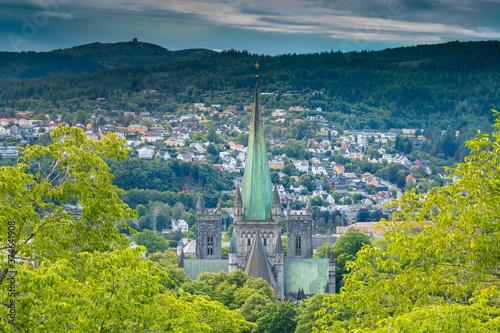 Leinwand Poster Nidaros Cathedral, Trondheim, Trondelag, Norway