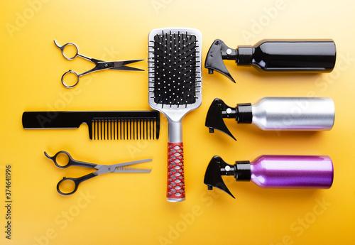 Fotografering Hair care salon equipment set