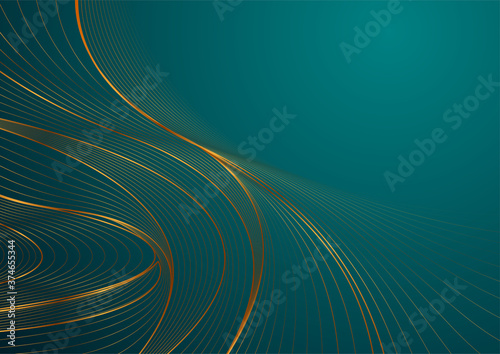 Obrazy turkusowe  turquoise-abstract-background-with-golden-wavy-pattern-art-deco-ornament-vector-illustrat