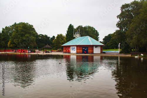Derby UK August  29, 2020:The Pavilion at  Mundy Play Centre  Markeaton Park  Derby UK Canvas Print
