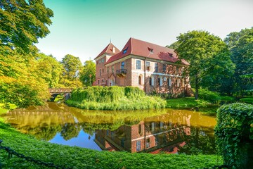 Castle in Oporow in central Poland.