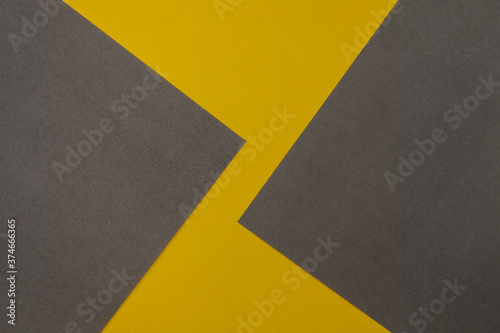 Fotografie, Obraz Grey and Yellow coloured paper background