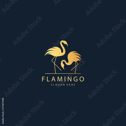 Fotografia Flamingo logo design