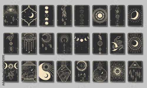 Fotografia Set of decorative tarot cards
