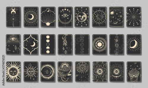 Set of decorative tarot cards Fototapet