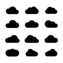 Cloud Filled Icon Set Vector I...