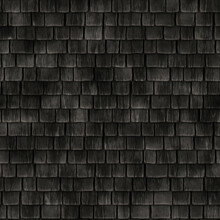 Seamless Historical Wooden Roof Tiles Texture