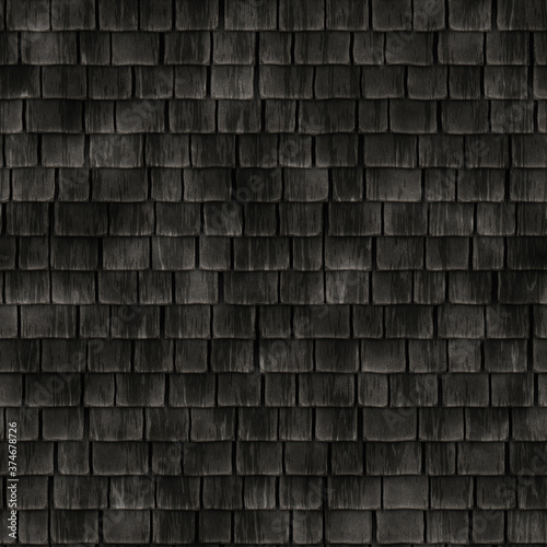 seamless historical wooden roof tiles texture Fototapete