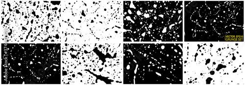 Fotomural Grunge stains backgrounds set