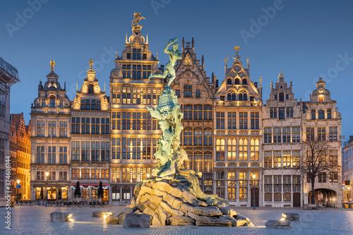 Antwerp, Belgium Cityscape Tableau sur Toile