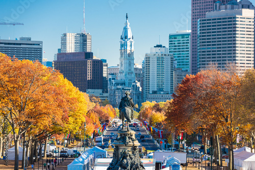 Philadelphia, Pennsylvania, USA at Benjamin Franklin Parkway Canvas