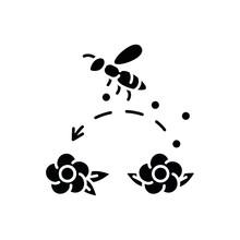 Pollination Black Glyph Icon. ...