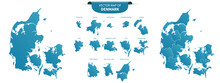 Blue Colored Political Maps Of...