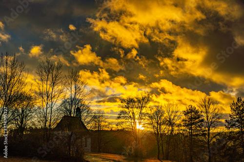 Fototapety, obrazy: Kappele - Sonnenuntergang