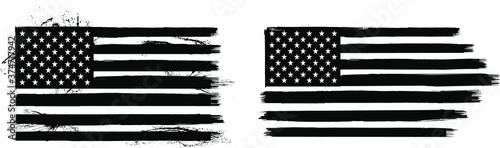 Distressed American Flag Fototapeta