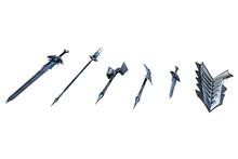 Fantasy Weapons Sword Set, 3D Illustration, 3D Rendering