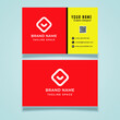 Abstract business card template design