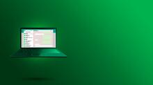 WhatsApp Interface On Laptop S...