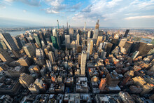 Aerial View Of The Manhattan S...