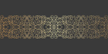 Laser Cut Panel Design. Ornate Vintage Border Template For Laser Cutting, Stained Glass, Glass Etching, Sandblasting, Wood Carving, Cardmaking, Wedding Invitations, Stencils.