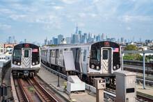 Local Train Service In New York City, USA