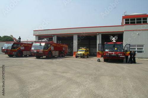 Airport fire station Canvas Print