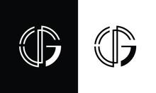 GJ,JG,G ,J  Abstract Letters Logo Monogram