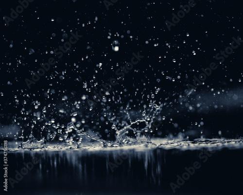 Vászonkép water splash on black