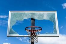 Shattered Basketball Backboard