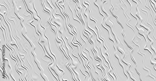 Photographie White wallpaper pattern texture with stucco ridges in close up