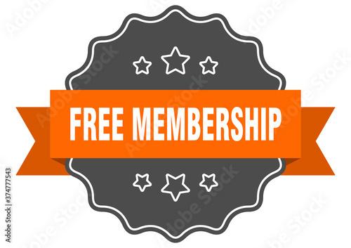 Fotografía free membership label