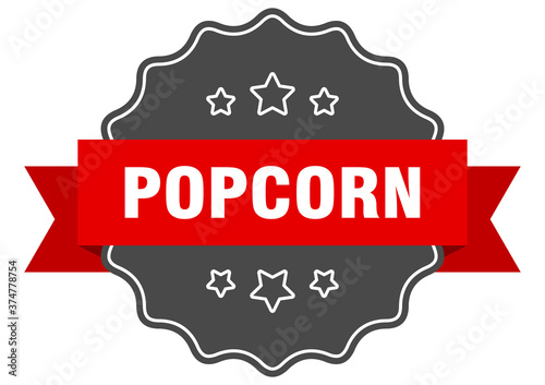 popcorn label. popcorn isolated seal. sticker. sign Wallpaper Mural