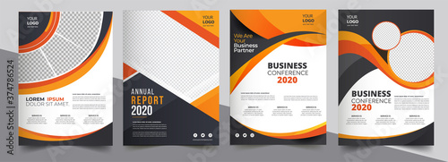 Fototapeta Brochure design, cover modern layout, annual report, poster, flyer in A4 with co