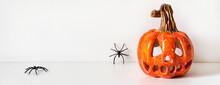 Ceramic Pumpkin Jack Lantern A...
