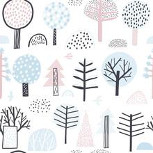 Cute Vector Pattern Of Winter ...