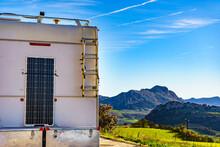 Solar Photovoltaic Panel At Caravan