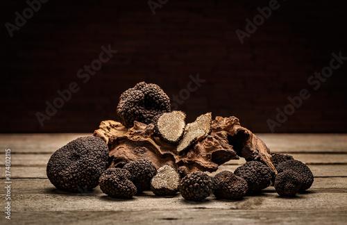 Black truffle mushroom #374802115