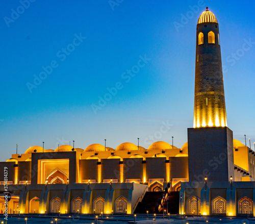 Imam Abdul Wahab Mosque: The Qatar State Grand Mosque Mosque Wallpaper Mural