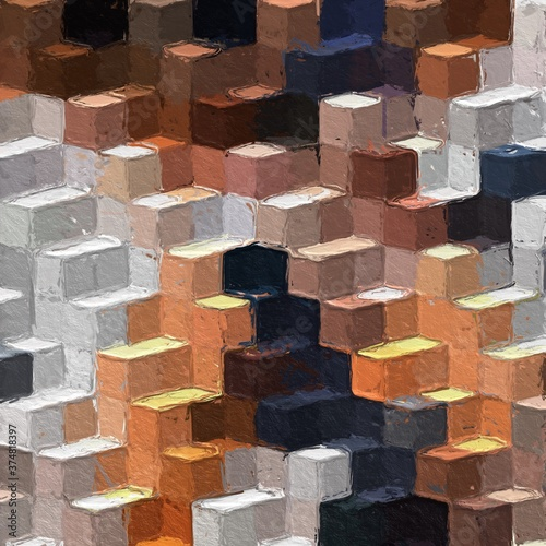 Obrazy kolorowe  colorful-abstract-mosaic-with-a-rough-texture-background-sweet-color-square-pattern-background