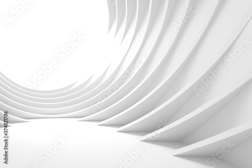 Modern Concept Wallpaper. White Indoor Texture