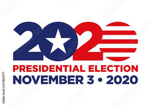 Obraz 2020 United States presidential election - fototapety do salonu