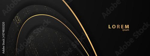 Obraz abstract black gold texture sports Vector illustration. geometric background. Modern shape concept. - fototapety do salonu